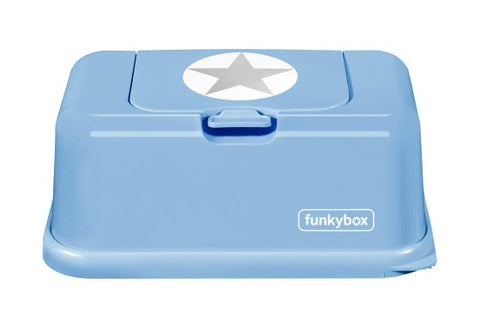 Box PortaSalviettine Umidificate Blue e Grey Star | FUNKY BOX | RocketBaby.it
