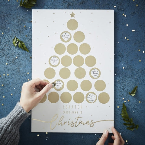 Calendario Avvento Gold Scratch Christmas | GINGER RAY | RocketBaby.it