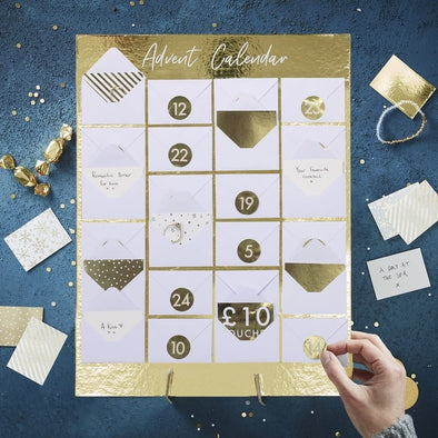 Mini Calendario Avvento Gold Christmas | GINGER RAY | RocketBaby.it
