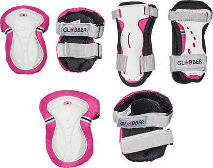 Set Ginocchiere, Polsiere e Paragomiti - Rosa | GLOBBER | RocketBaby.it