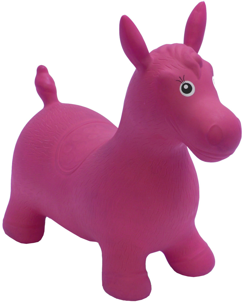 Gonfiabile Cavalcabile Medium Cavallo Rosa - RocketBaby - 1