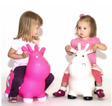 Gonfiabile Cavalcabile Small Mucca Rosa | HAPPY HOPPERZ | RocketBaby.it