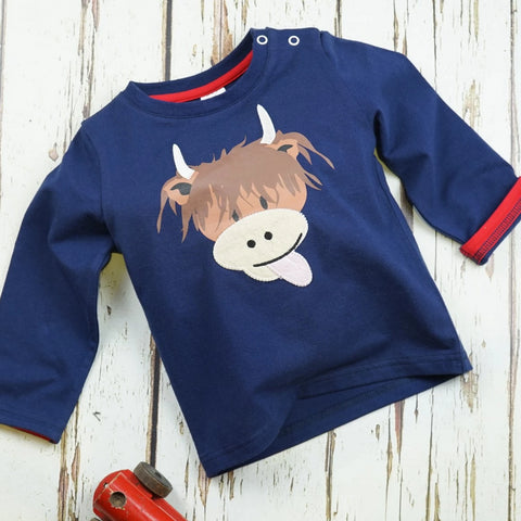 Maglia A Maniche Lunghe Highland Cow | BLADE&ROSE | RocketBaby.it