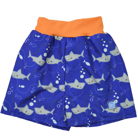 Pantaloncini Costumino Assorbenti Happy Nappy Shark Orange | SPLASH ABOUT | RocketBaby.it