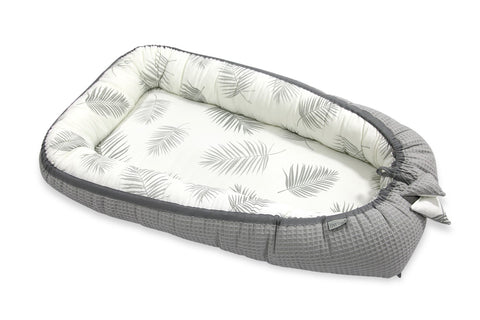 Riduttore per la Nanna in Bamboo e Cotone Palms Grey 0-6 Mesi | TINY STAR | RocketBaby.it