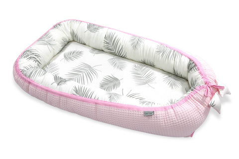 Riduttore per la Nanna in Bamboo e Cotone Palms Pink 0-6 Mesi | TINY STAR | RocketBaby.it