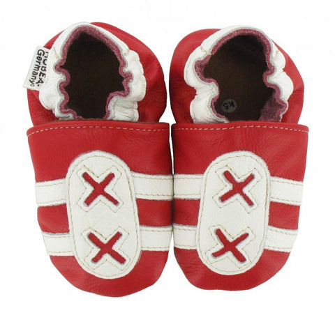 Babbucce Trainers Rosse/Bianche | HOBEA | RocketBaby.it