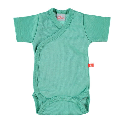 Body Kimono a Manica Corta Moss Green | LIMOBASICS | RocketBaby.it