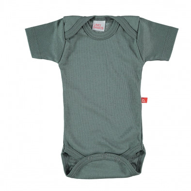 Body Manica Corta Scollo Tondo Grigio Scuro | LIMOBASICS | RocketBaby.it