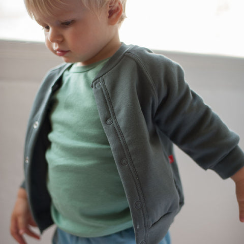 Felpa a Cardigan Grigio Scuro - LIMOBASICS - RocketBaby.it - RocketBaby