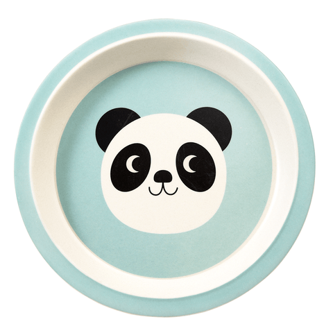 Piatto In Bamboo Miko The Panda | REX LONDON | RocketBaby.it