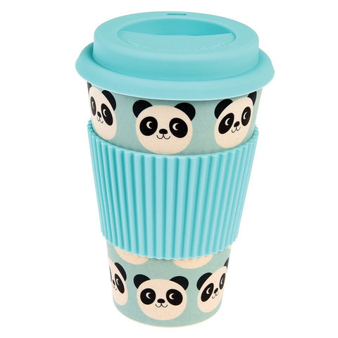 Mug In Bamboo Con Coperchio Miko The Panda | REX LONDON | RocketBaby.it