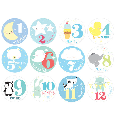 12 Stickers 1' anno Little Boy - RocketBaby - 1
