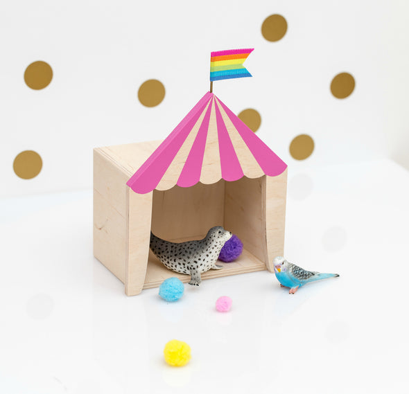 Box Circo Rosa e legno |  | RocketBaby.it