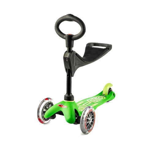 Monopattino Evolutivo Mini Micro Deluxe 3 in 1 Verde - da 1 a 5 Anni | MICRO MOBILITY | RocketBaby.it
