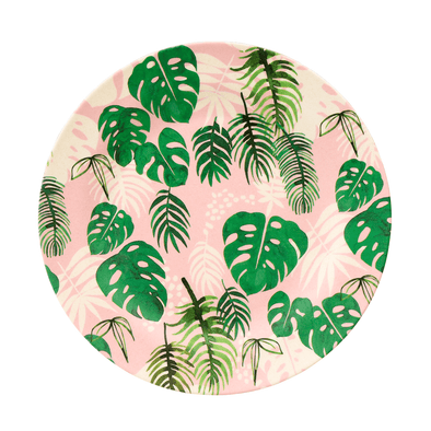 Piatto In Bamboo Tropical Palm | REX LONDON | RocketBaby.it