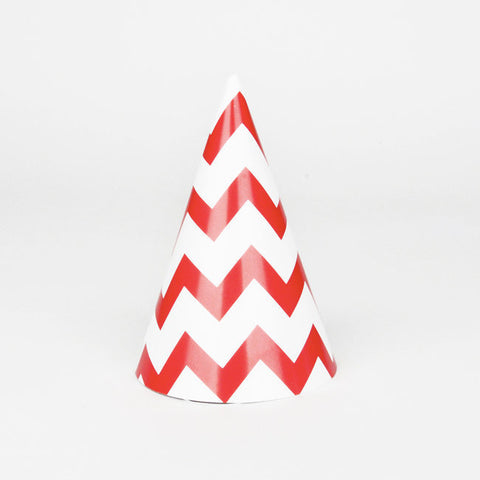 8 Cappellini Party Red Chevrons | MY LITTLE DAY | RocketBaby.it