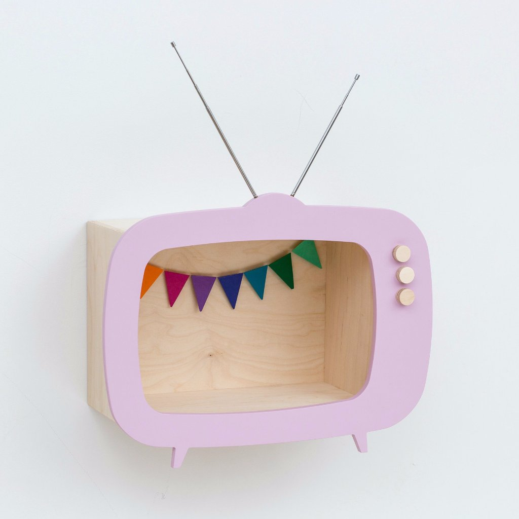 Mensola Contenitore TV Rosa | UP WARSAW | RocketBaby.it