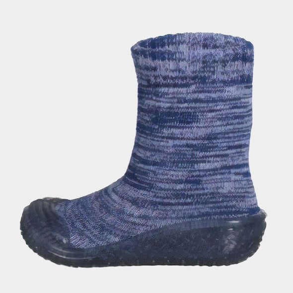 Calze Gommate Knitted Navy | PLAYSHOES | RocketBaby.it