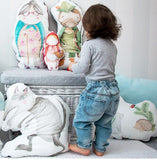 Cuscino Cappuccetto Rosso Bianco | BLANKET STORY | RocketBaby.it