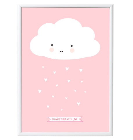 Poster da Muro Nuvoletta Rosa | A LITTLE LOVELY COMPANY | RocketBaby.it