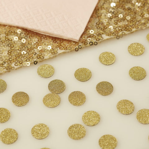 Decorazioni da Tavolo Gold Glitter Pastel Perfection | GINGER RAY | RocketBaby.it