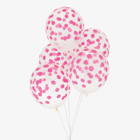 5 Palloncini A Pois Bright Pink | MY LITTLE DAY | RocketBaby.it