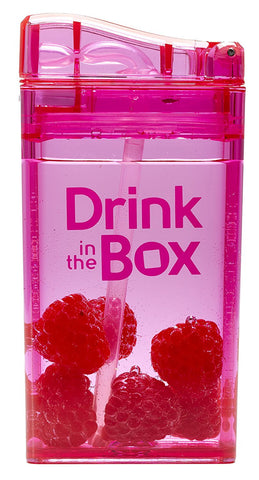 Borraccia con Cannuccia Integrata 235 ml Rosa | DRINK IN THE BOX | RocketBaby.it