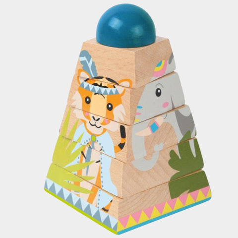 Puzzle Con Dadi Torre Jungle | LEGLER | RocketBaby.it