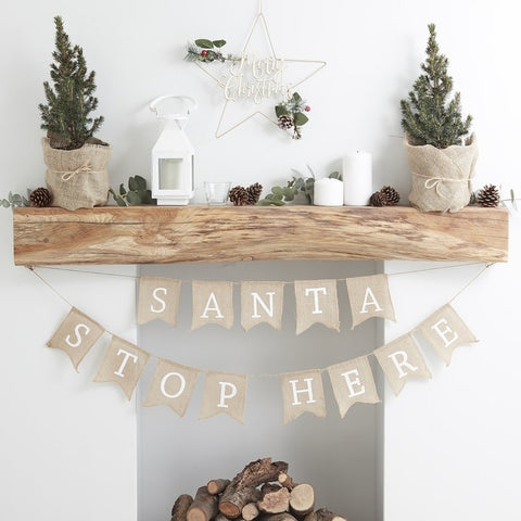 Ghirlanda Decorativa Santa Stop Here | GINGER RAY | RocketBaby.it