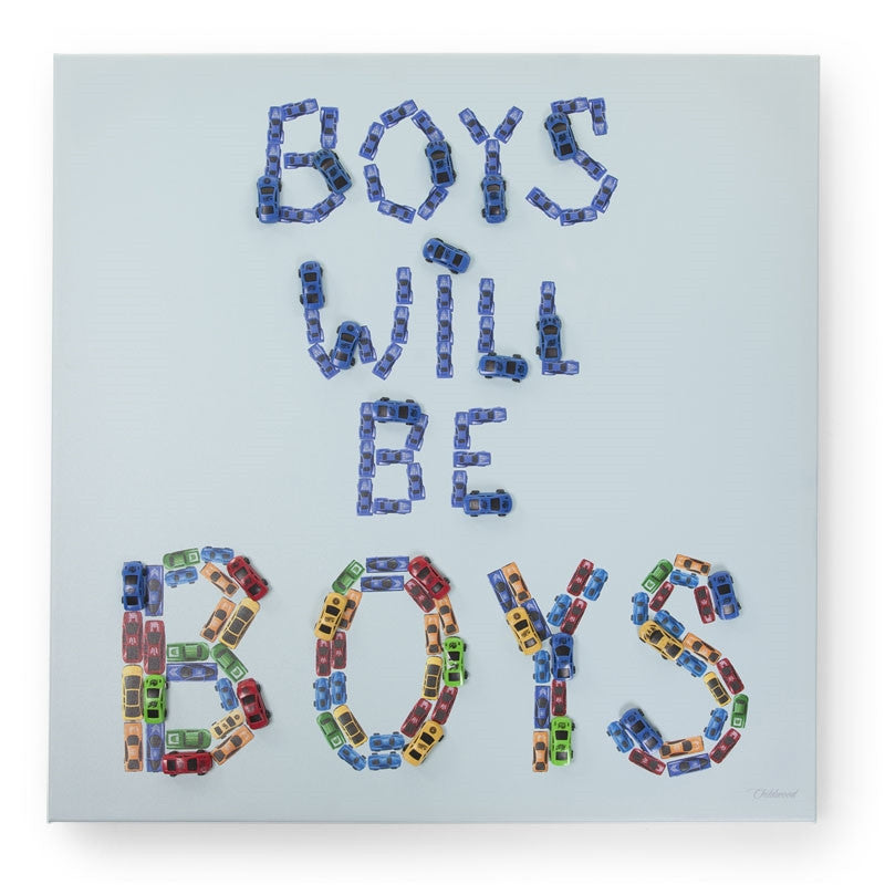 Dipinto ad olio 3D Boys will be boys | CHILDHOME | RocketBaby.it