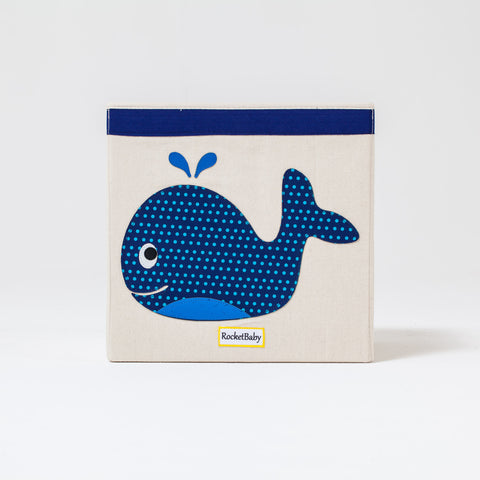 Scatola Box Contenitore Portagiochi Balena Arthur The Whale | ROCKETBABY | RocketBaby.it