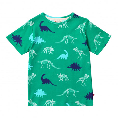 Maglia a Maniche Corte Dinosaur All Over Print | PICCALILLY | RocketBaby.it