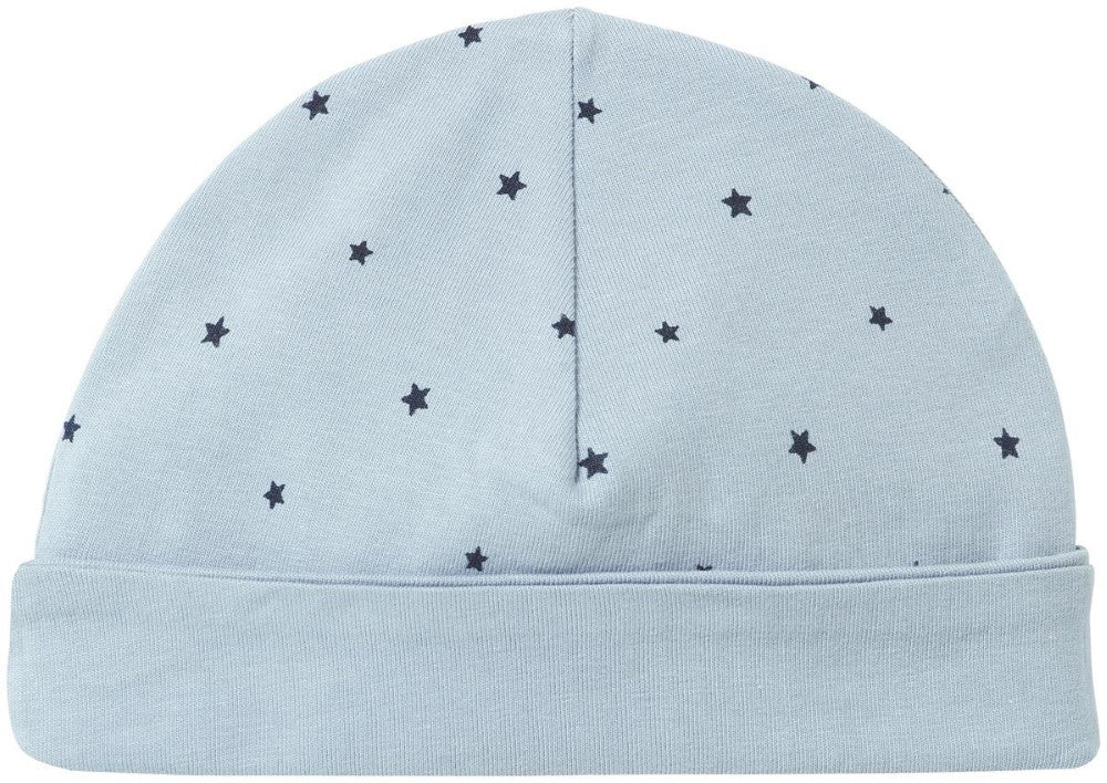 Cuffietta Reversibile Azzurra Stelline Baby | NOPPIES | RocketBaby.it