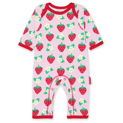 Tutina Pigiamino in Cotone Strawberry Print
