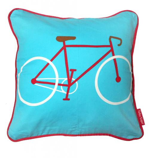Cuscino Bicicletta Rossa Double Face | TOBY TIGER | RocketBaby.it