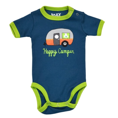 Body a Maniche Corte Boys Happy Camper Night Out | LAZY ONE | RocketBaby.it