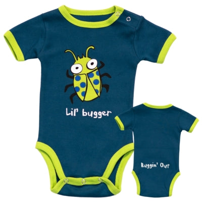Body a Maniche Corte Boys Lil' Bugger | LAZY ONE | RocketBaby.it