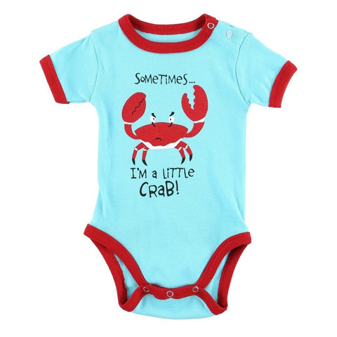 Body a Maniche Corte I'm A Little Crabby | LAZY ONE | RocketBaby.it