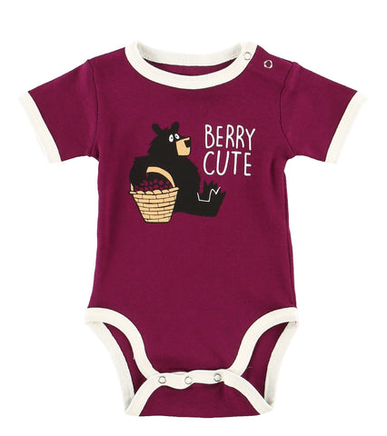 Body a Maniche Corte Huckle-Berry Bear | LAZY ONE | RocketBaby.it