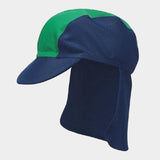 Cappello da Sole con Protezioni Laterali Blue Green | PLAYSHOES | RocketBaby.it