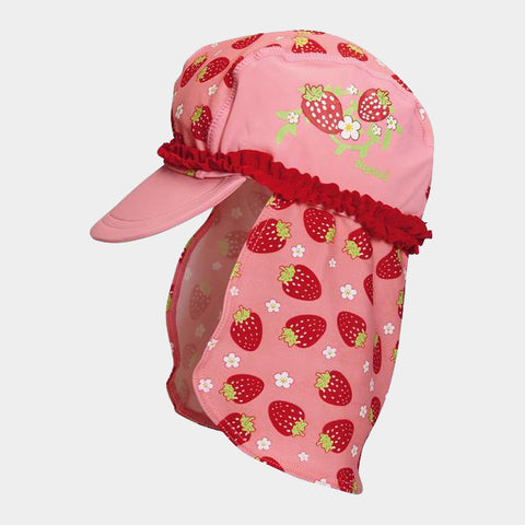 Cappello da Sole con Protezioni Laterali Strawberries | PLAYSHOES | RocketBaby.it