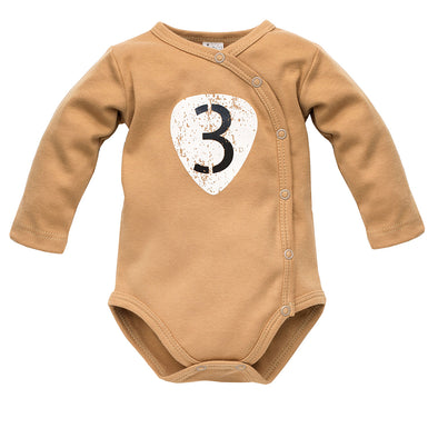 Body Maniche Lunghe Con Bottoni Old Cars Brown | PINOKIO | RocketBaby.it
