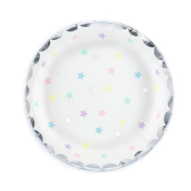 Set 6 Piatti di Carta Unicorn Stars | PARTY DECO | RocketBaby.it