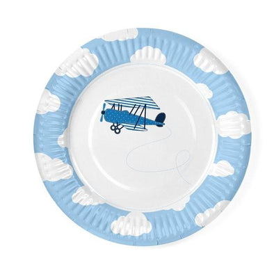 Set 6 Piatti di Carta Little Plane | PARTY DECO | RocketBaby.it