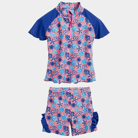 Costume 2 Pezzi Flowers Blue | PLAYSHOES | RocketBaby.it