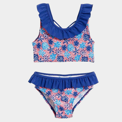 Costume Bikini Flowers Blue | PLAYSHOES | RocketBaby.it