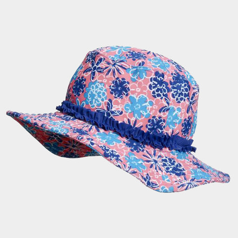 Cappello da Sole Flowers Blue | PLAYSHOES | RocketBaby.it