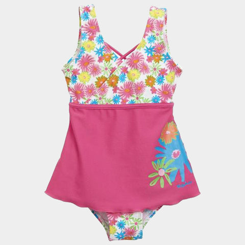 Costume Intero con Gonna Flowers Pink | PLAYSHOES | RocketBaby.it