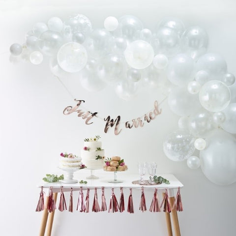 Kit Arco di Palloncini White | GINGER RAY | RocketBaby.it